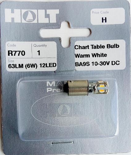 Holt BA9S 12LED Warm White Chart Table Bulb